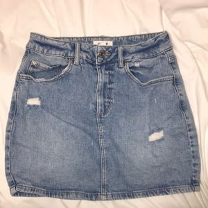 Denim jeans skirt